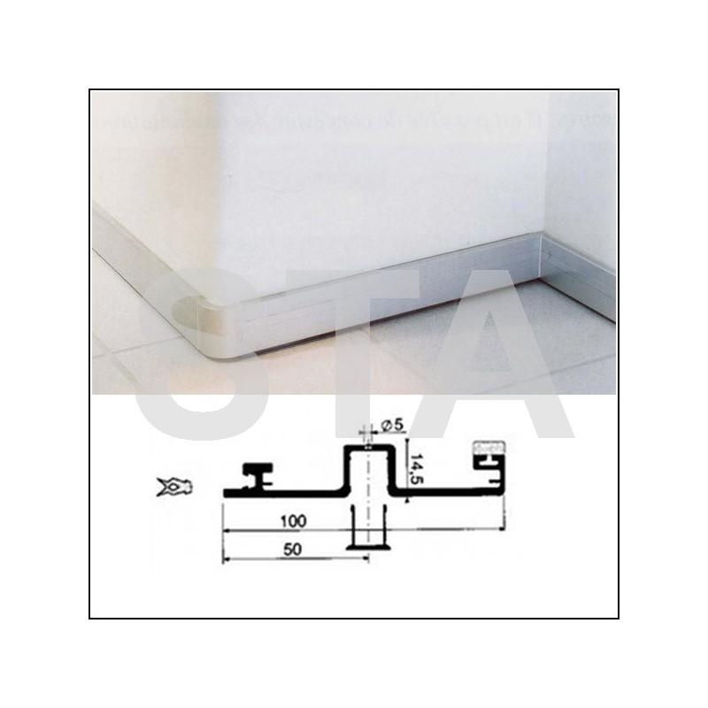 plinthe inox bross et fixations. Black Bedroom Furniture Sets. Home Design Ideas
