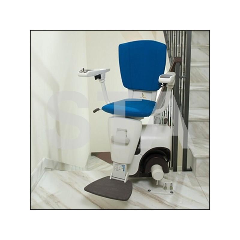 Monte escaliers avec chaise repose pieds - Chaise avec repose pied ...