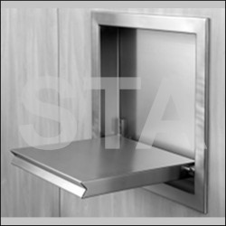 Stainless steel casing with folding seat