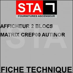 Afficheur 2 blocs matrix crep00 autinor