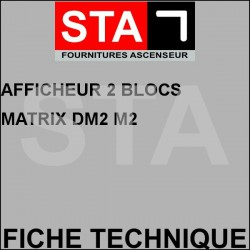 Afficheur 2 blocs matrix dm2 m2