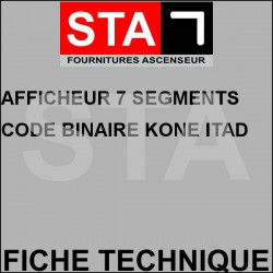 7-segment display binary code kone itad6359