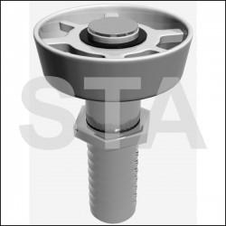 Roller-qks11 QKS8 tightened threaded shaft