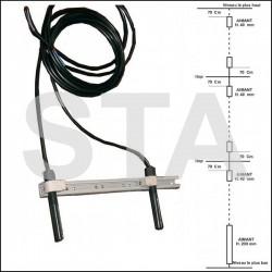 Cable blindé 8x0,34 souple binaire 100m