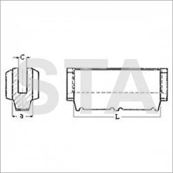 Garniture Sabiem pour contrepoids en nylon L x a : 80x20 mm C : 7.5 mm