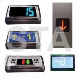 Afficheur palier avec boite en saillie LCD