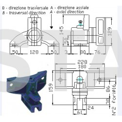Support de patin T301 pour guide cabine 2000 kg