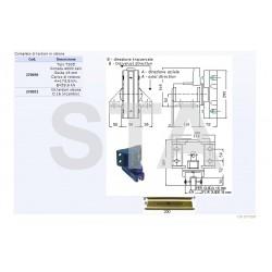 Guide shoe holder for 16 mm 4000 kg-T305