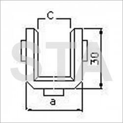 Schindler polyurethane lining Lxa 100x26 mm 8.5 mm C