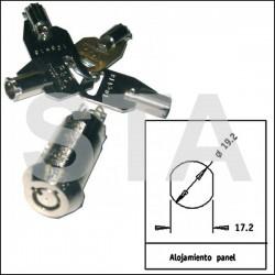 Contact à clefs impulsion à pompe retour ressort