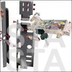 Serrure HE1 et HE2 porte TPI droite parallèle
