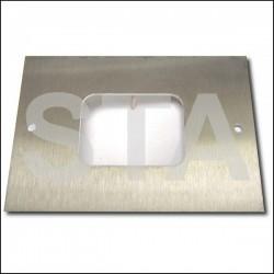 Plastron inox 120x95 mm