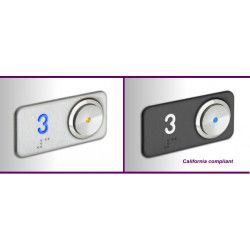 Plaquette metallique en acier aux chiffres retro-illumines et Braille