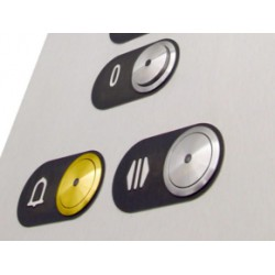 Plaquette metallique en acier aux chiffres avec Braille
