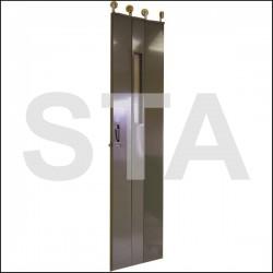 Panneaux de portes articulés porteur 2550 mm épaisseur 30 mm