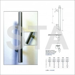 Baton maréchal - Poignées de portes alu anodisé alu 401 à 800 mm
