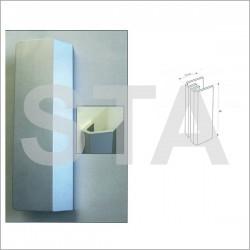 Poignée de porte battante alu bronze 200 mm