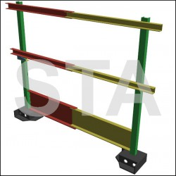 Balustrade H 700mm ajustable en longueur