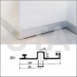 Plinthe et closoir alu anodisé naturel H 100 mm