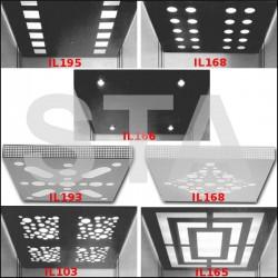 Plafond sur mesure couleurs au choix RAL avec fluorescence