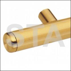 Main courante droite inox brossé diam 40 mm