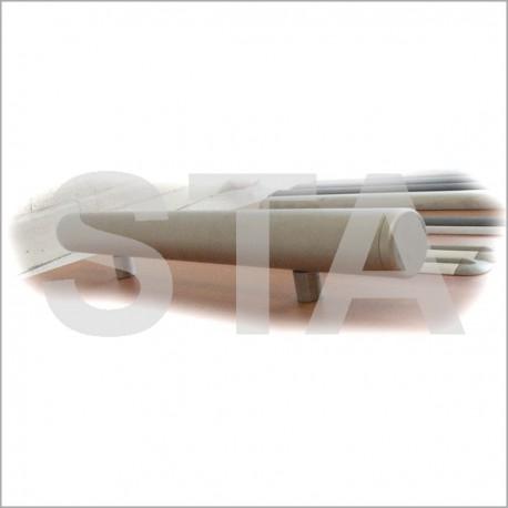 main courante alu anodis or avec 2 fixations et 2 bouchons. Black Bedroom Furniture Sets. Home Design Ideas