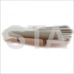 Main courante extrémitées coudées alu anodisé naturel