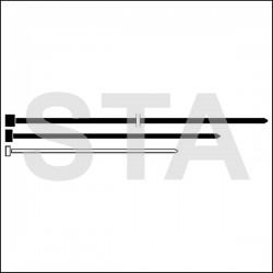Collier serre cables moderne L 140 mm incolore