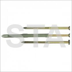 Cheville nylon grande longueur avec vis prémontée fur Prof : 110 mm