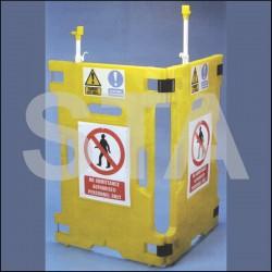 Barrière de sécurité 3 panneaux