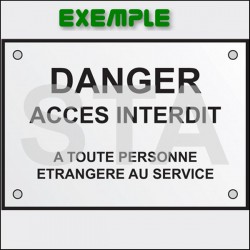 Plaque de signalisation Danger machinerie