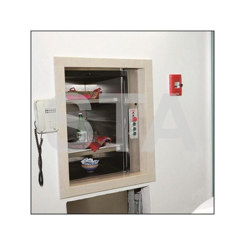 monte plat option volet de porte cabine en aluminium. Black Bedroom Furniture Sets. Home Design Ideas