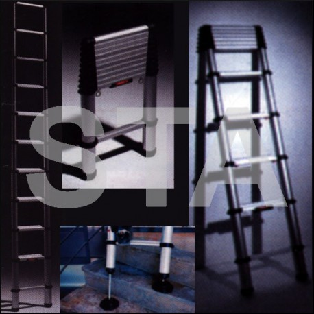 echelle t l scopique en 3 8 m sta fournitures ascenseurs. Black Bedroom Furniture Sets. Home Design Ideas
