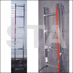 Echelle aluminium repliable dans fond de fosse Modèle 4+5 échelons