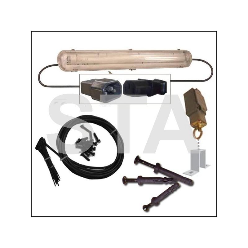 kit clairage gaine ip65 pr cabl 7 niveaux. Black Bedroom Furniture Sets. Home Design Ideas