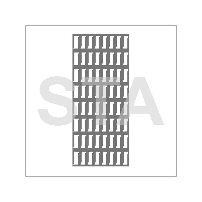 200x100 steel ventilation grille. Black Bedroom Furniture Sets. Home Design Ideas
