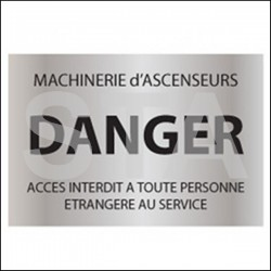 Machinerie d'ascenseur -DANGER