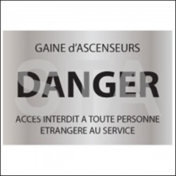 Gaine d'ascenseur -DANGER