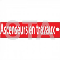 Ascenseur en travaux