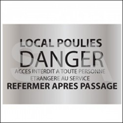 Local poulies DANGER