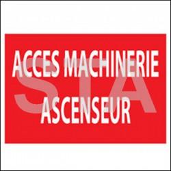 Accès machinerie ascenseur