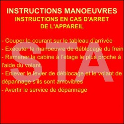 Instruction manœuvre