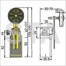 FR 538-W1 galet diam 50 mm avec reset
