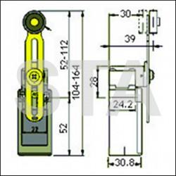 FR 555 galet diam 20 mm ajustable en hauteur