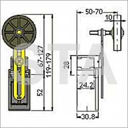 FR 955-4 galet diam 50 mm 2NC