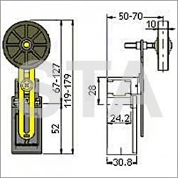FR 1655-4 galet diam 50 mm 1NC à doite et 1NC à gauche