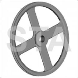 Poulie de Manivelle ts PL Dyn diametre 305mm