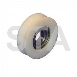 Kone galet de porte diam extérieur 64mm diam intérieur 57mm diam axe 17mm largeur 20mm largeur gorge 15mm