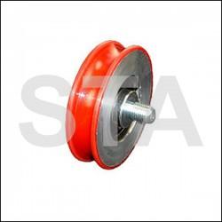 Kone galet metal pour porte diam extérieur 74mm largeur 18.5mm