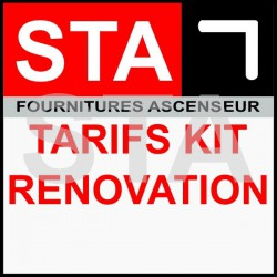 STA Tarif kit renovation